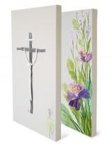 보라꽃 십자가set